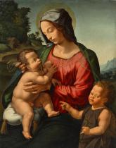 MADONNA AND CHILD WITH THE INFANT JOHN THE BAPTIST IN THE LANDSCAPE