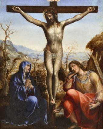 THE CRUCIFIXION WITH THE VIRGIN AND SAINT JOHN THE EVANGELIST