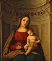 MADONNA AND CHILD IN NICHE