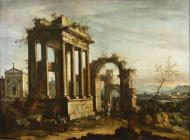 CAPRICCIO WITH RUINS AND A CHURCH