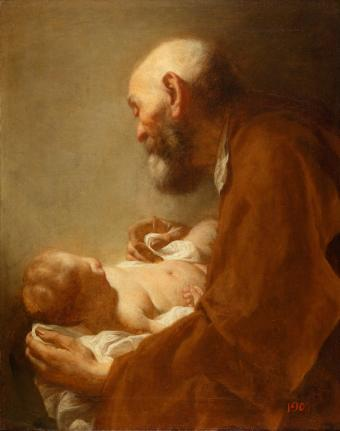 SIMEON TAKING THE INFANT CHRIST INTO HIS ARMS
