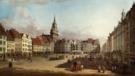 VIEW OF THE OLD MARKET IN DRESDEN