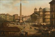 PIAZZA ROTONDA WITH PANTHEON