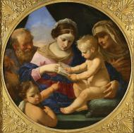 THE HOLY FAMILY WITH THE INFANT JOHN THE BAPTIST AND SAINT ELISABETH
