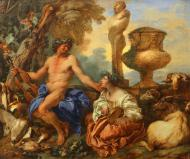 PASTORAL SCENE WITH FAUN AND SHEPHERDESS