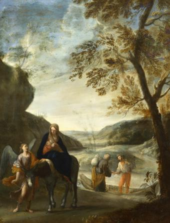 THE FLIGHT INTO EGYPT WITH A BOATMAN