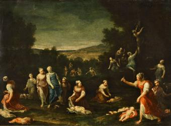 NYMPHS DISARMING CUPIDS