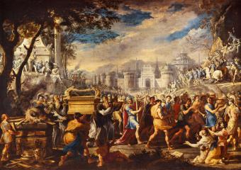 THE TRANSFER OF THE ARK OF THE LORD TO THE CITY OF JERUSALEM BY KING DAVID