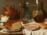STILL LIFE WITH BREAD AND HAM