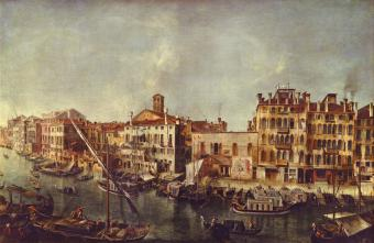 VIEW OF THE GRAND CANAL IN VENICE FROM FONDAMENTA DEL VIN