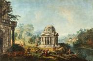 LANDSCAPE WITH A TEMPLE