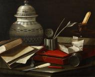 STILL LIFE WITH WRITING IMPLEMENTS