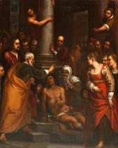 SAINT PETER HEALING A CRIPPLE AT THE GATE OF THE TEMPLE