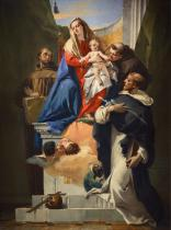 MADONNA WITH SAINT LUDOVIC OF TOULOUSE, SAINT ANTONIO OF PADUA AND SAINT FRANCIS OF ASSISI