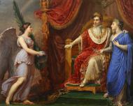 NAPOLEON ENTRONED WITH ALLEGORICAL FIGURES OF PEACE AND VICTORY
