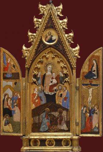 MADONNA AND CHILD WITH SAINTS AND ANGELS. THE ANNUNCIATION. THE ADORATION OF MAGI. THE CRUCIFIXION