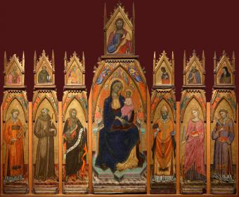 MADONNA AND CHILD. CHRIST AND SAINTS